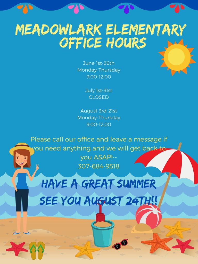 Meadowlark Elementary Summer Office Schedule